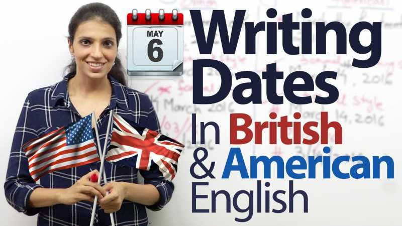 Come si scrive la data in Inglese britannico e americano