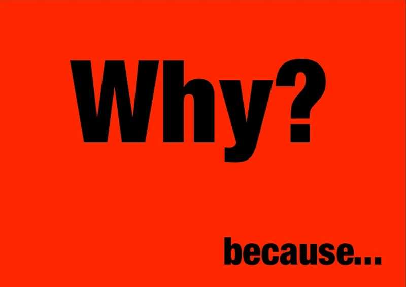 Perché in Inglese: why e because